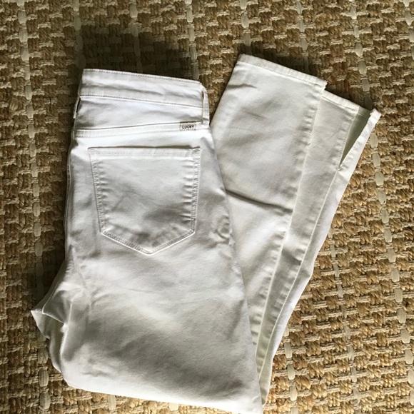Lucky Brand Ava Skinny White Jeans 6 28